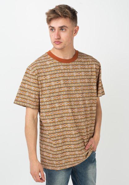 Rhythm T-Shirts Tribe Stripe tobacco vorderansicht 0322040