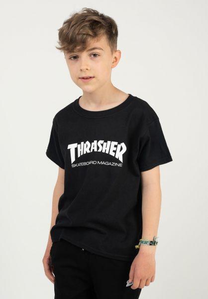 Thrasher T-Shirts Skate Mag Kids black vorderansicht 0364535