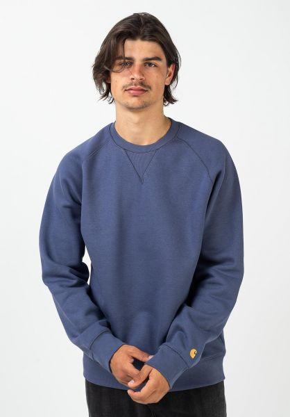 Carhartt WIP Sweatshirts und Pullover Chase coldviola-gold vorderansicht 0420832