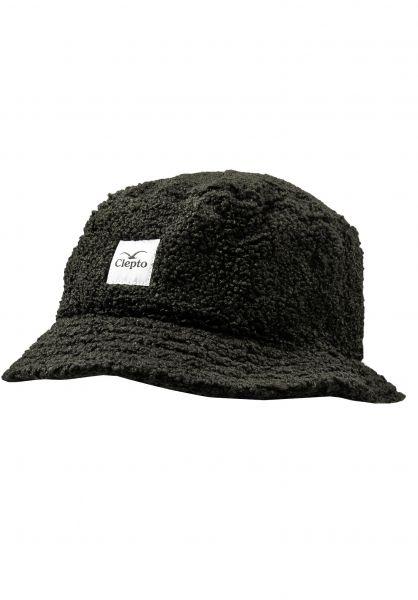 Cleptomanicx Hüte Teddy Bucket black vorderansicht 0580411