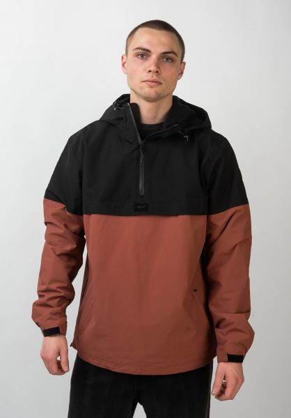 Reell Winterjacken Winter Windbreaker black-redbrown vorderansicht 0250030