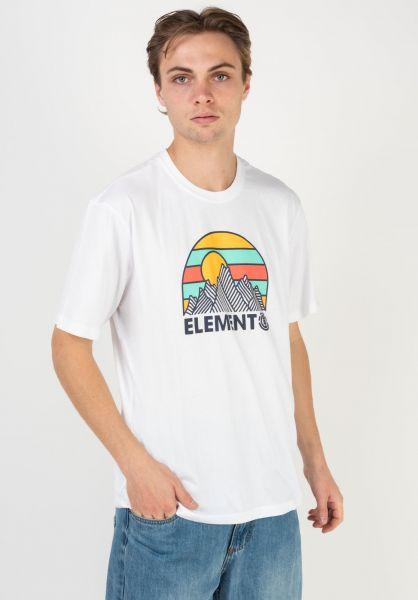 Element T-Shirts Kozy opticwhite vorderansicht 0322619
