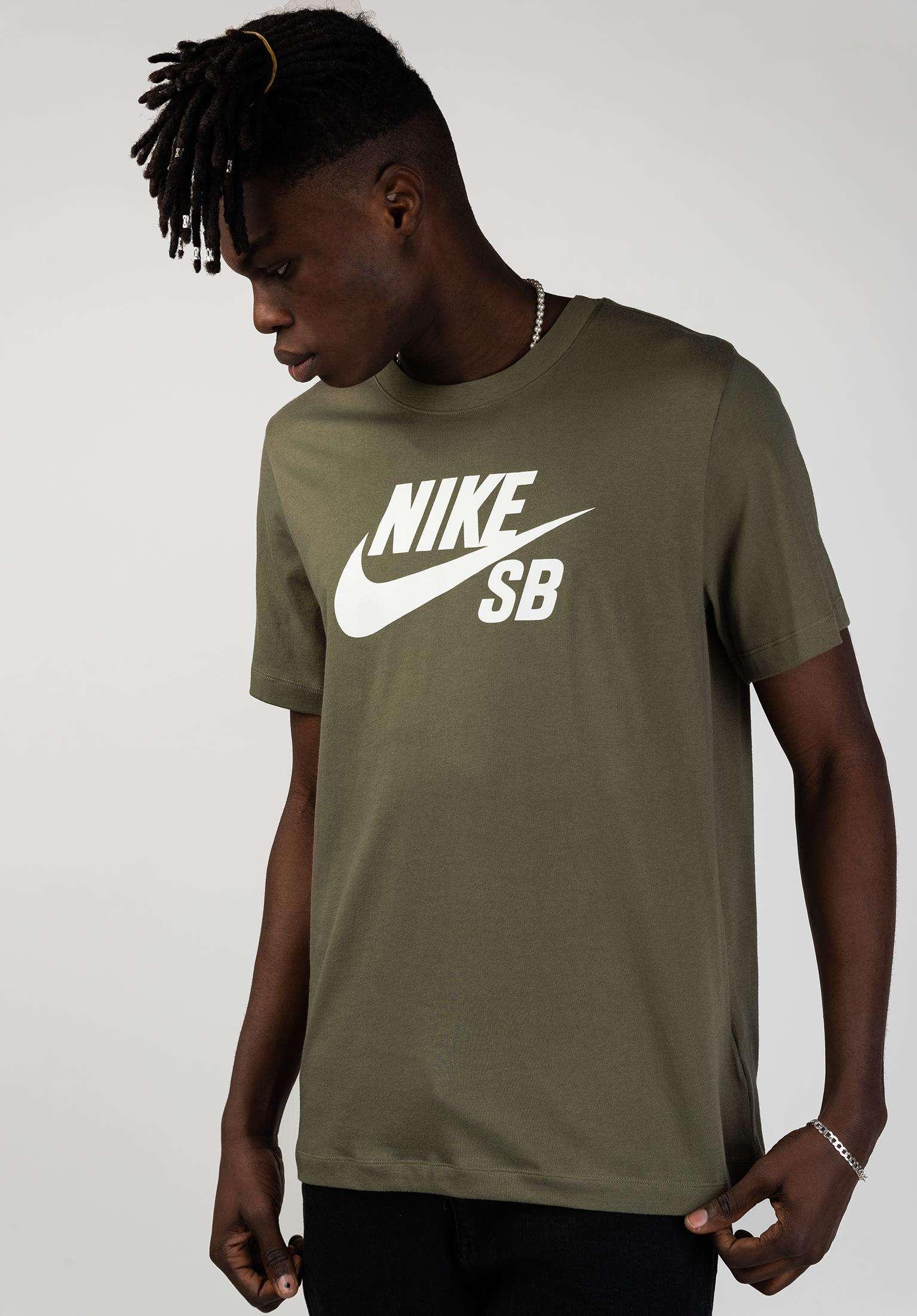 brand new b71d1 04d49 DFT Icon Logo Nike SB T-Shirts in mediumolive-white for Men   Titus