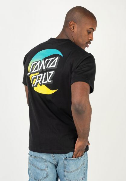 Santa-Cruz T-Shirts Moon Dot Fade Organic black vorderansicht 0322500