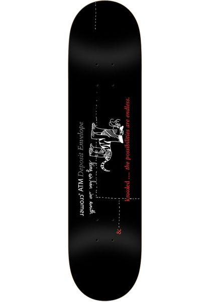 Krooked Skateboard Decks Cromer Deposit black vorderansicht 0261579