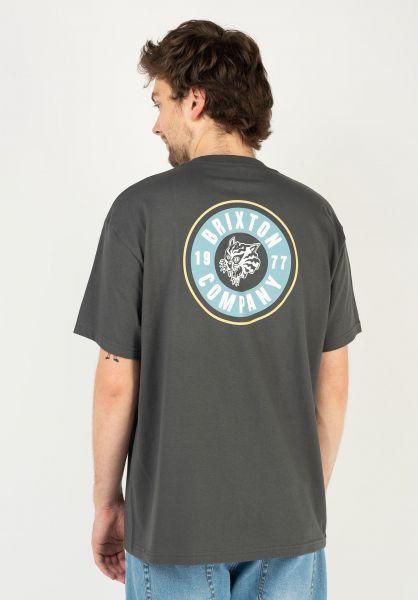 Brixton T-Shirts Rage washedblack vorderansicht 0323998