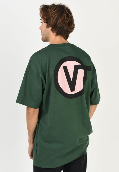 Vans T-Shirts Off The Wall Classic Circle V pineneedle vorderansicht 0321804