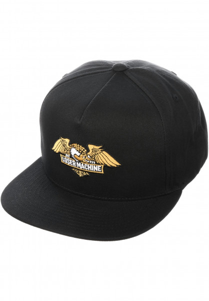 Loser-Machine Caps Wings Snapback black Vorderansicht