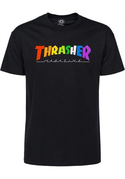 Thrasher T-Shirts Rainbow Mag black vorderansicht 0322663
