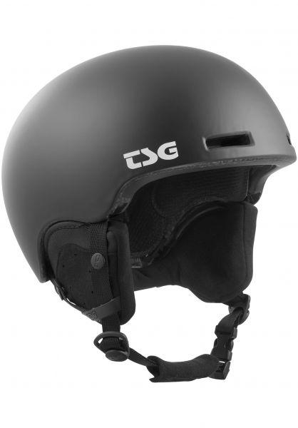 TSG Snowboardhelme Fly Solid Color II satin black Vorderansicht