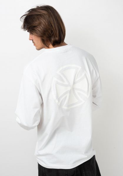 Independent Longsleeves Bar/Cross Fade Out L/S white vorderansicht 0383748