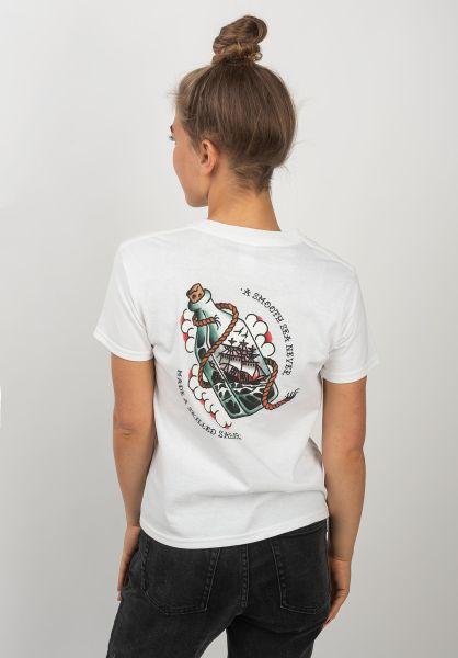 Dark Seas T-Shirts Black Rose Shrunken Women white vorderansicht 0383316
