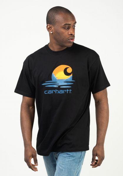 Carhartt WIP T-Shirts Lagoon black vorderansicht 0323505