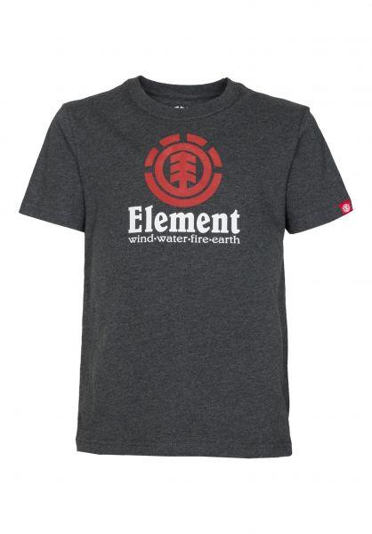 Element T-Shirts Vertical Kids charcoalheather Vorderansicht