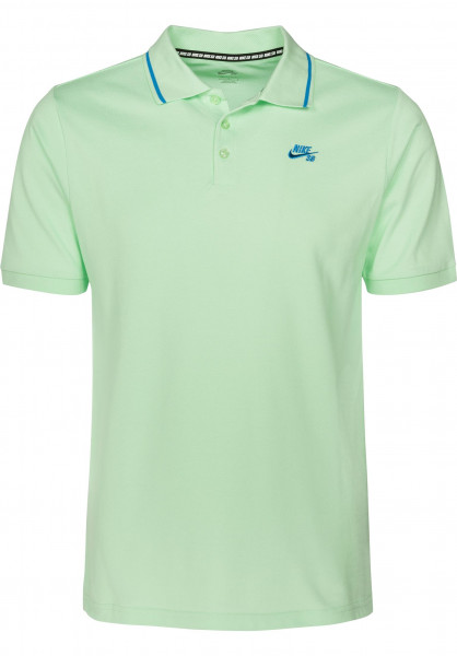 Nike SB Polo-Shirts DFT Piquet Tipped freshmint Vorderansicht