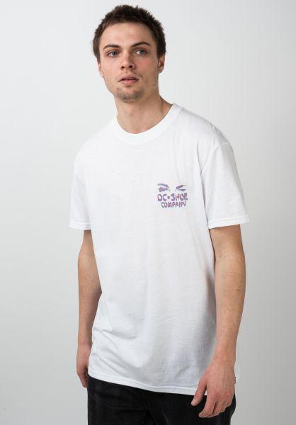 DC Shoes T-Shirts Pleasure Palace white vorderansicht 0321217