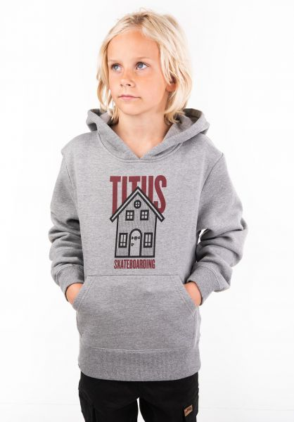 TITUS Hoodies Lodge Kids greymottled vorderansicht 0444629