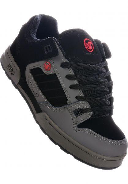 DVS Alle Schuhe Militia Snow charcoal-black-red vorderansicht 0603526