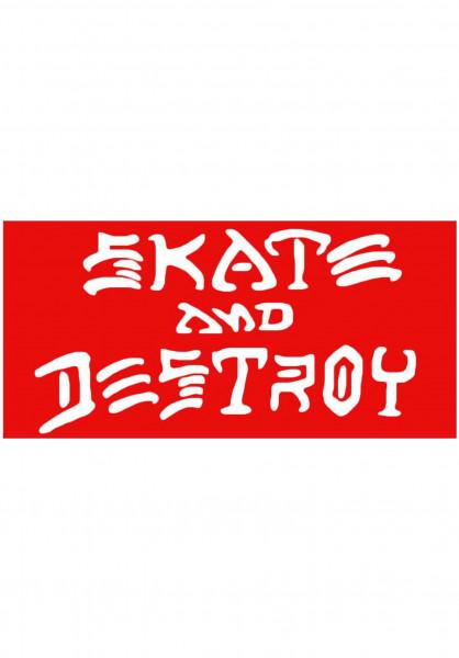 Thrasher Verschiedenes Skate & Destroy Sticker Large red Vorderansicht