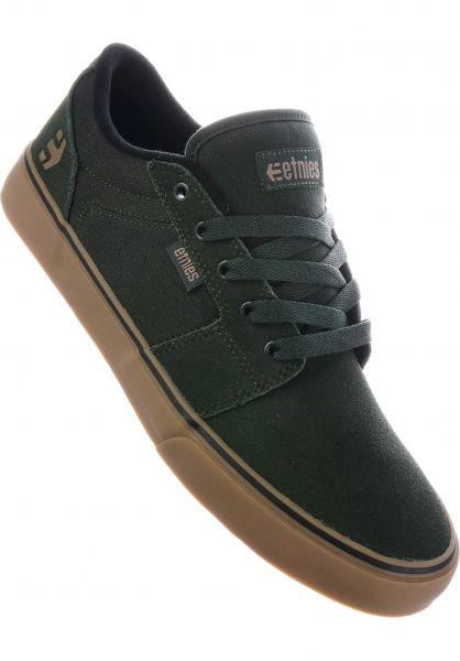 etnies Alle Schuhe Barge LS green-gum Vorderansicht