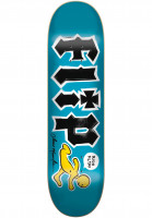 Flip-Skateboard-Decks-Mountain-Doughboy-Stencil-blue-Vorderansicht