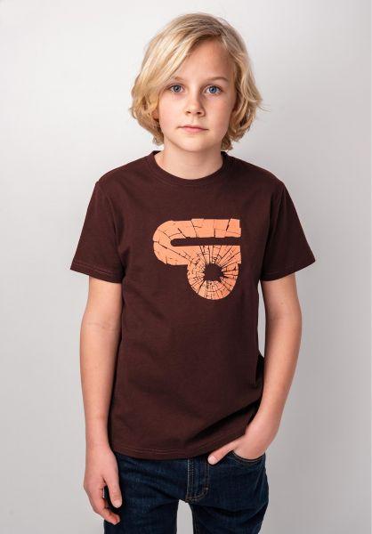 TITUS T-Shirts Splitter Kids deepburgundy vorderansicht 0398390