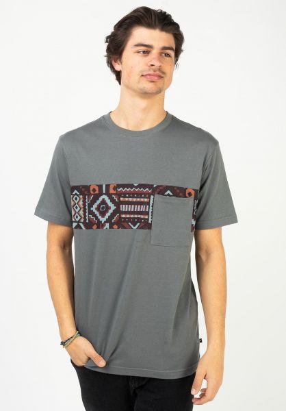 iriedaily T-Shirts Theodore Pocket anthracite vorderansicht 0321466