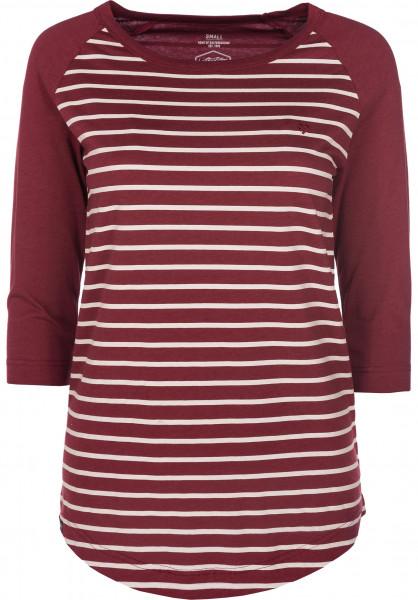 TITUS Longsleeves Leonie burgundy-beige-striped Vorderansicht