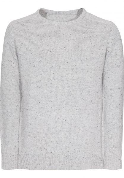 Reell Strickpullover Knitted Speckle grey Vorderansicht