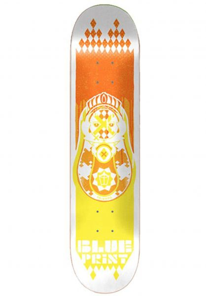 Blueprint Skateboard Decks Babushka orange-yellow vorderansicht 0263520