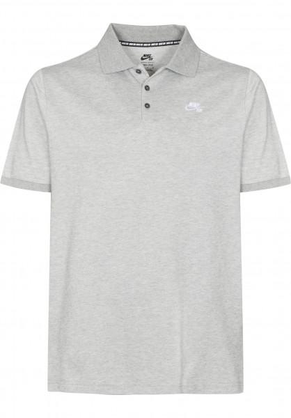 Nike SB Polo-Shirts DFT Pique darkgreyheather Vorderansicht