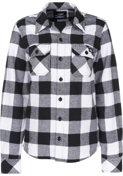 Dickies Hemden langarm Sacramento W black Vorderansicht