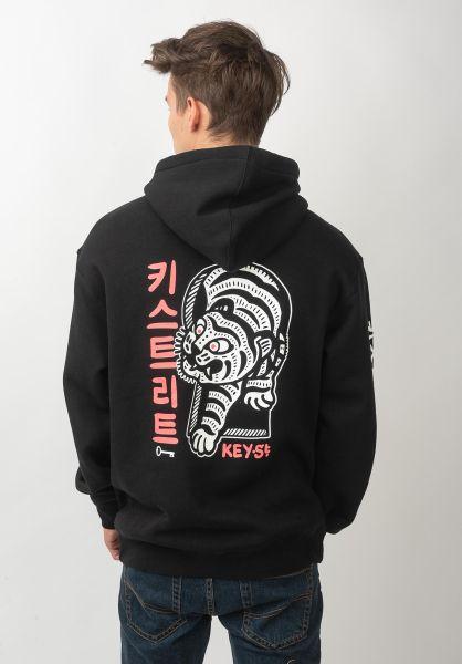 Key Street Hoodies Keyhole Tiger black vorderansicht 0445591