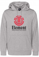 Element Hoodies Vertical heathergrey-red Vorderansicht