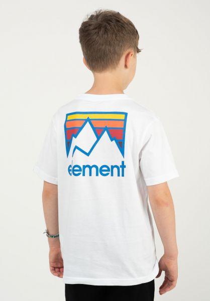 Element T-Shirts Joint Kids opticwhite vorderansicht 0323406