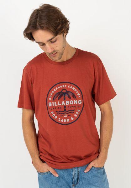 Billabong T-Shirts Coast To Coast deepred vorderansicht 0322648