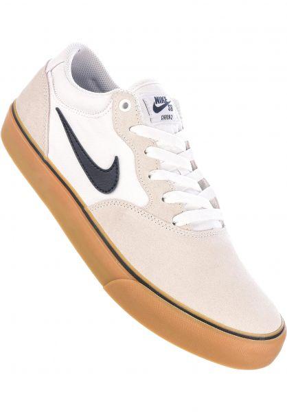 Nike SB Alle Schuhe Chron 2 white-obsidian-white-gumlightbrown vorderansicht 0605035