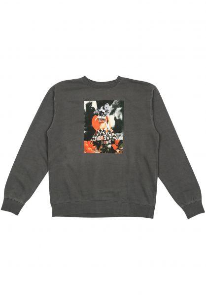Lurk Hard Sweatshirts und Pullover Rosa Crewneck charcoal vorderansicht 0422862
