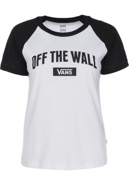 Vans T-Shirts New Arch white-black Vorderansicht