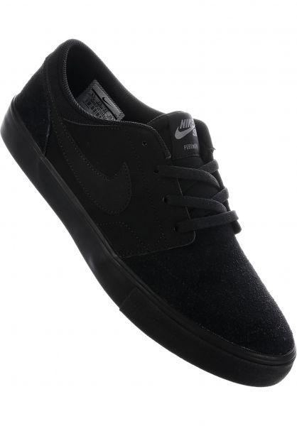 d9a3cfff1d41 Nike SB Alle Schuhe Solarsoft Portmore II black-black Vorderansicht