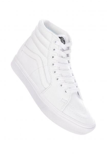 Vans Alle Schuhe Sk8 Hi Comfy Cush truewhite-truewhite vorderansicht 0612508
