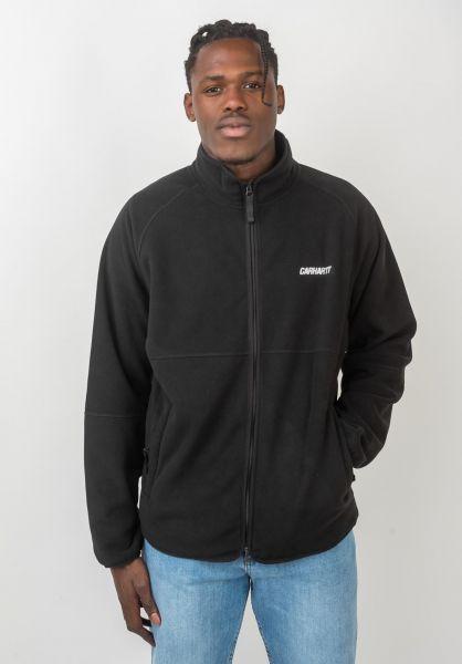 Carhartt WIP Übergangsjacken Beaufort Jacket black-reflectivegrey vorderansicht 0504466