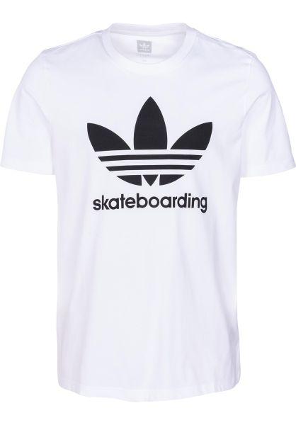 adidas-skateboarding T-Shirts Clima 3.0 white-black vorderansicht 0396097