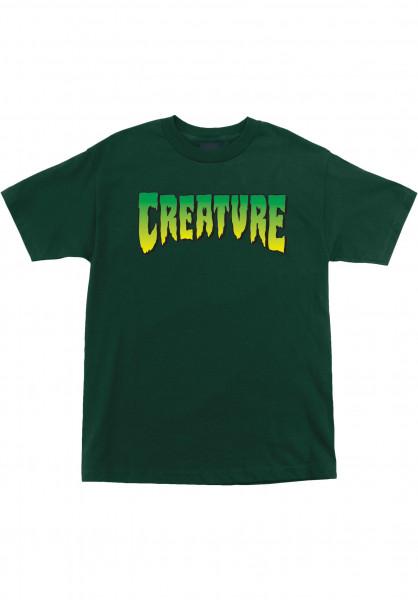 Creature T-Shirts Logo green Vorderansicht