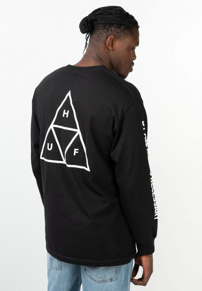 HUF Longsleeves Triple Triangle black vorderansicht 0382746