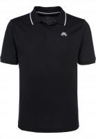 Nike SB Polo-Shirts DFT Piquet Tipped black-white Vorderansicht