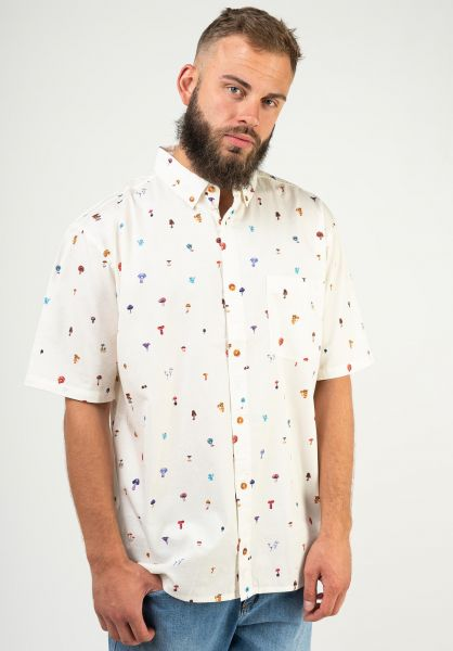 Element Hemden kurzarm Shrooms Skyway white vorderansicht 0401107
