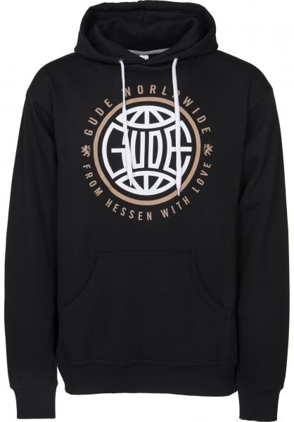 GUDE Hoodies Worldwide black Vorderansicht