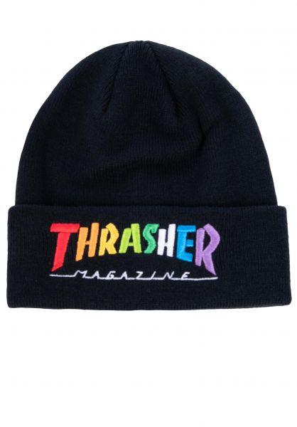Thrasher Mützen Rainbow Mag black vorderansicht 0572589