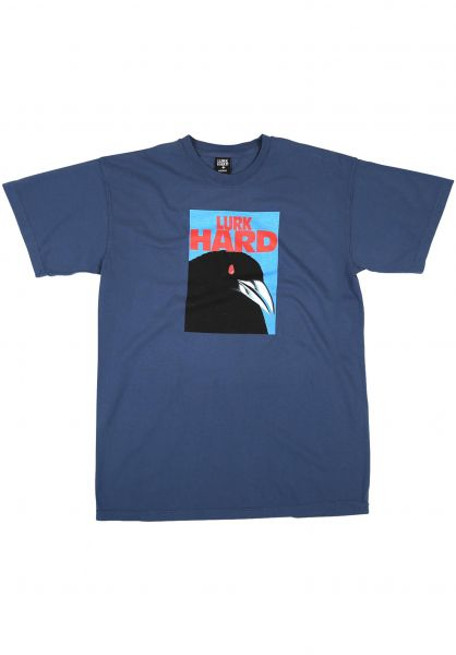 Lurk Hard T-Shirts Raven blue vorderansicht 0320792